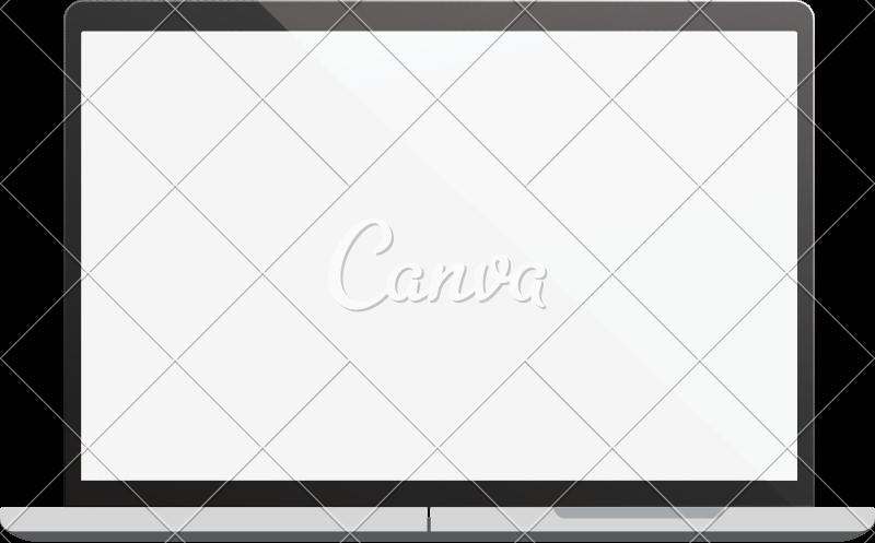 800x497 Laptop Vector Illustration