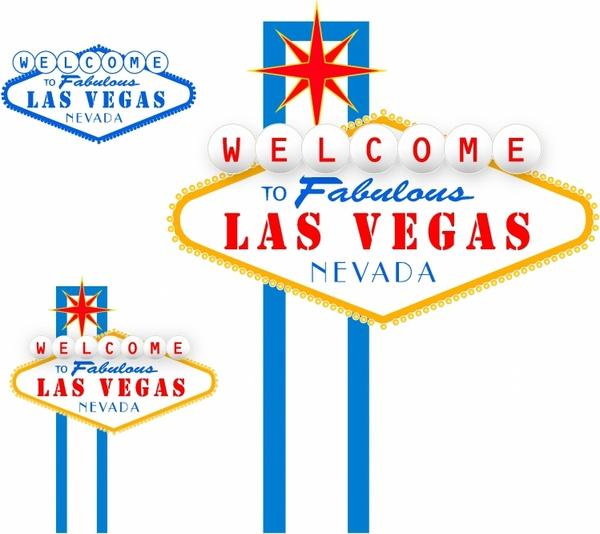 600x534 Las Vegas Sign Free Vector In Adobe Illustrator Ai ( .ai