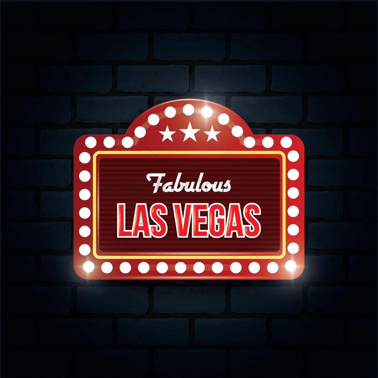 1300x1300 Fabulous Las Vegas Sign Vector Image