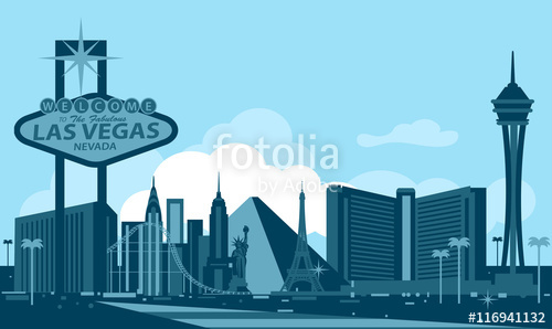 500x298 Las Vegas Skyline Stock Image And Royalty Free Vector Files On