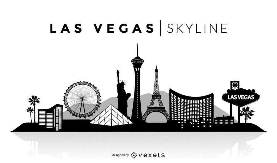900x529 Las Vegas Silhouette Skyline