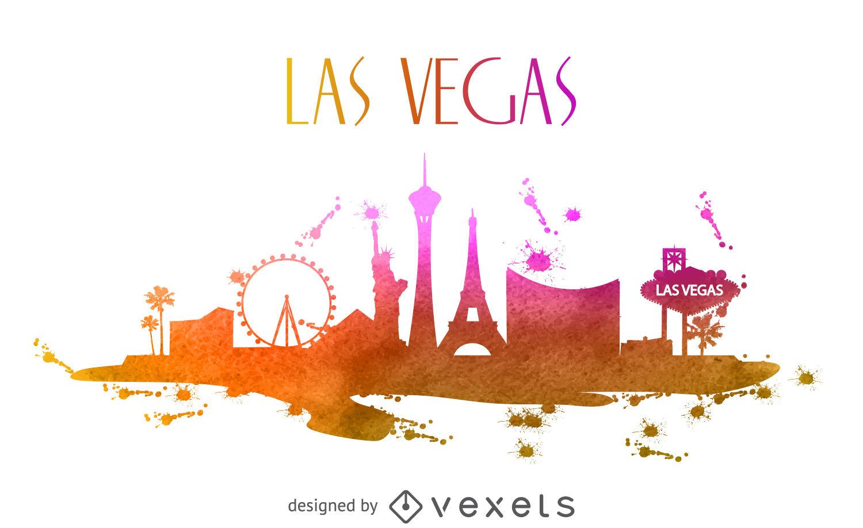 1500x918 Las Vegas Watercolor Skyline