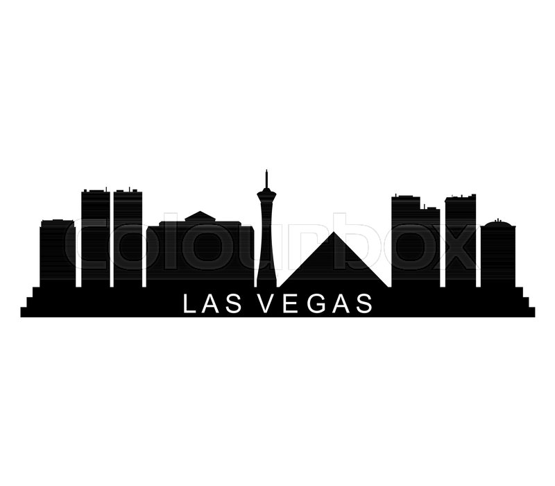 800x700 Las Vegas Skyline On White Background Stock Vector Colourbox