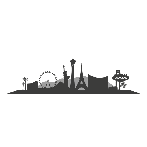 512x512 Las Vegas Skyline Silhouette
