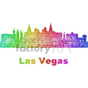 300x300 Royalty Free City Skyline Vector Clipart Usa Las Vegas 402696