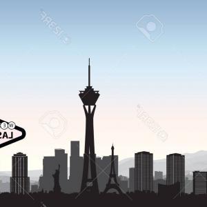 300x300 Las Vegas Night Skyline Illustration Sohadacouri