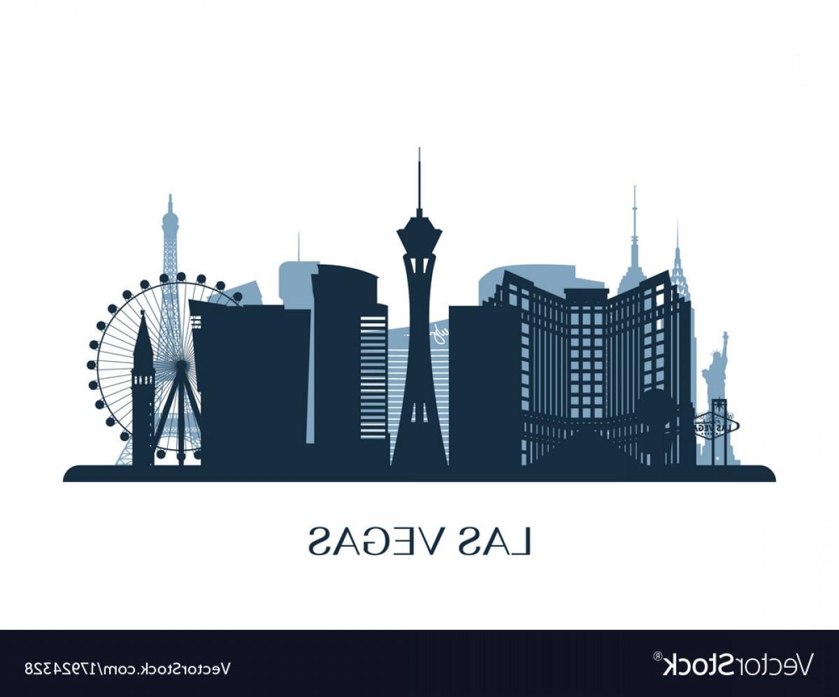 1200x996 Las Vegas Skyline Monochrome Silhouette Vector Sohadacouri