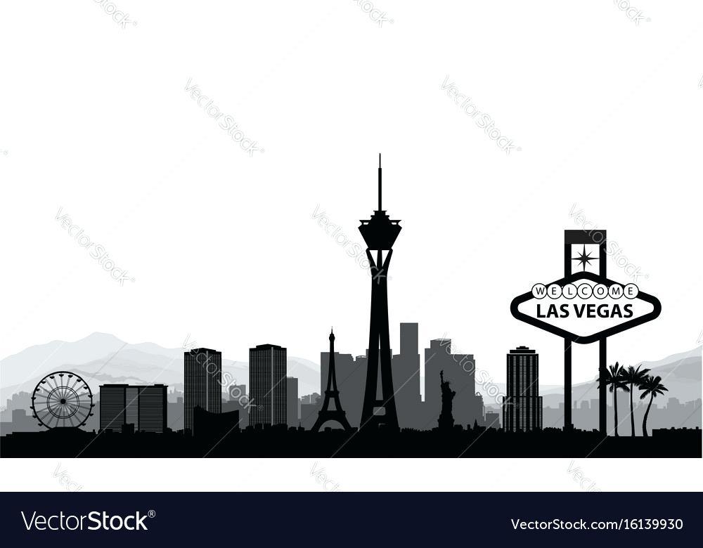 1000x780 Las Vegas Skyline Stock Vector Strip Images Littlelookbook