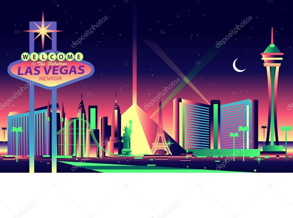 1024x760 Las Vegas Skyline Vector Free Las Vegas Stock Vectors Royalty Free
