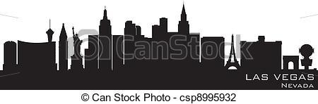 450x148 Las Vegas, Nevada Skyline. Detailed Vector Silhouette.