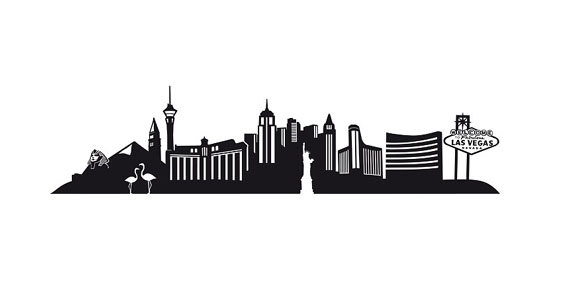 565x284 Collection Of Las Vegas Strip Drawing High Quality, Free