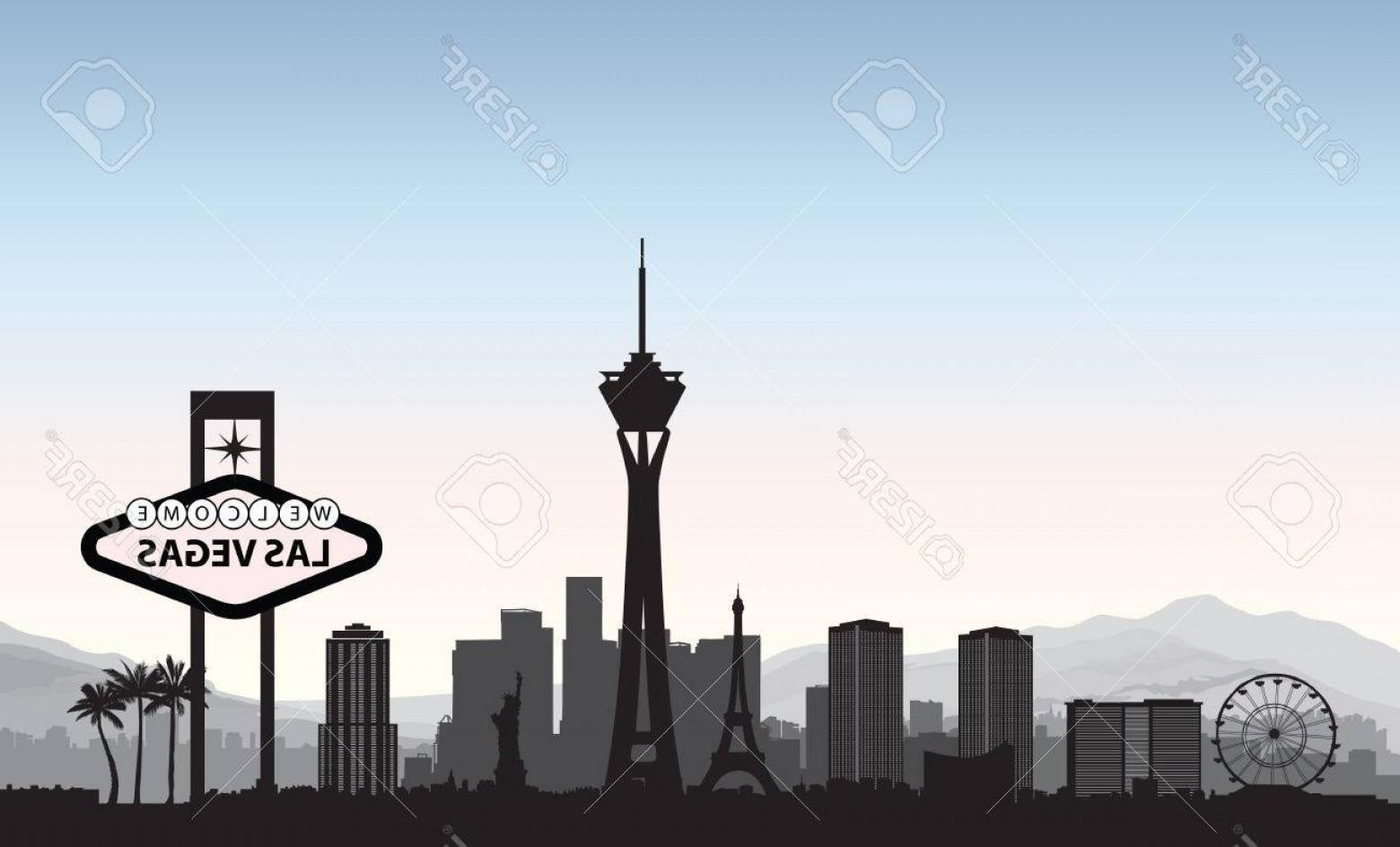 1560x944 Photostock Vector Las Vegas Skyline Travel American City Landmark