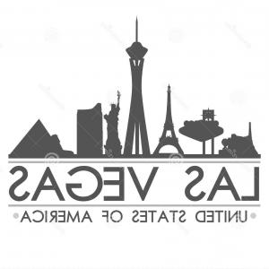 300x300 Stock Illustration Las Vegas Skyline Silhouette Design City Vector