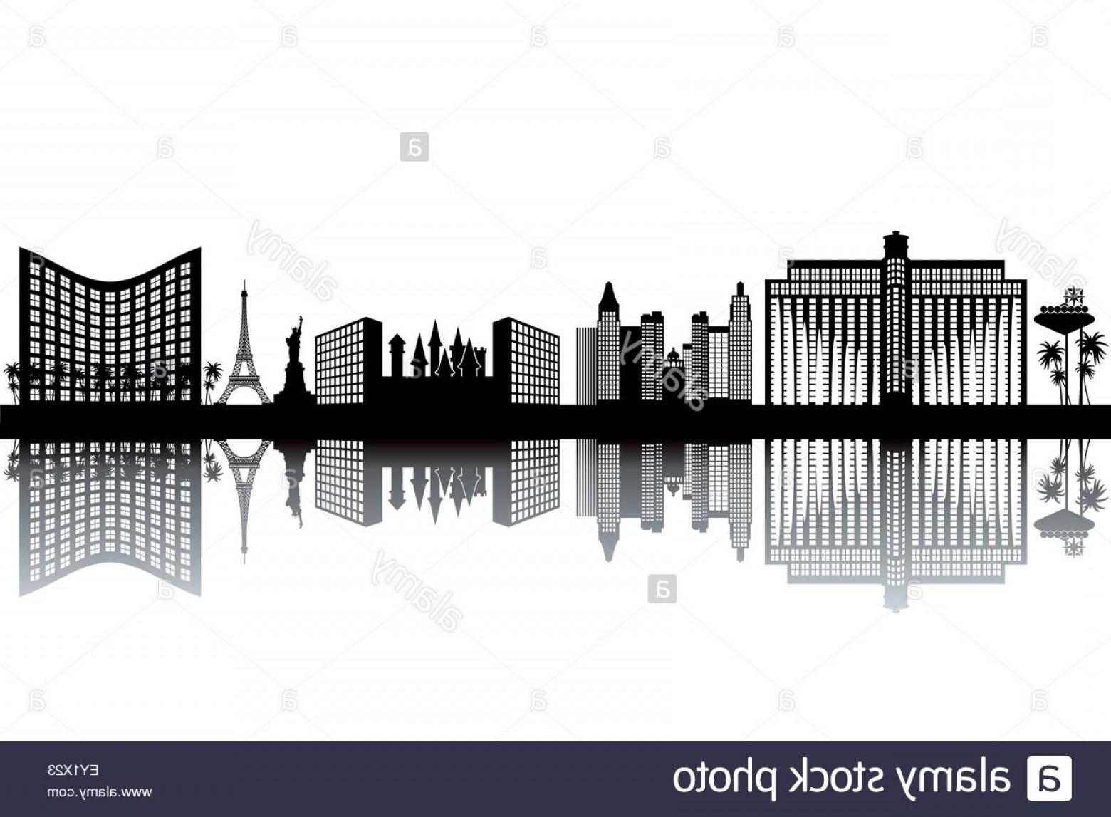1560x1147 Stock Photo Las Vegas Skyline Black And White Vector Illustration