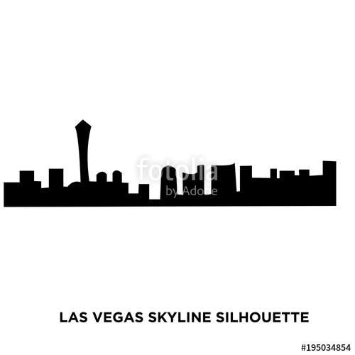 500x500 Las Vegas Skyline Silhouette On White Background Stock Image And