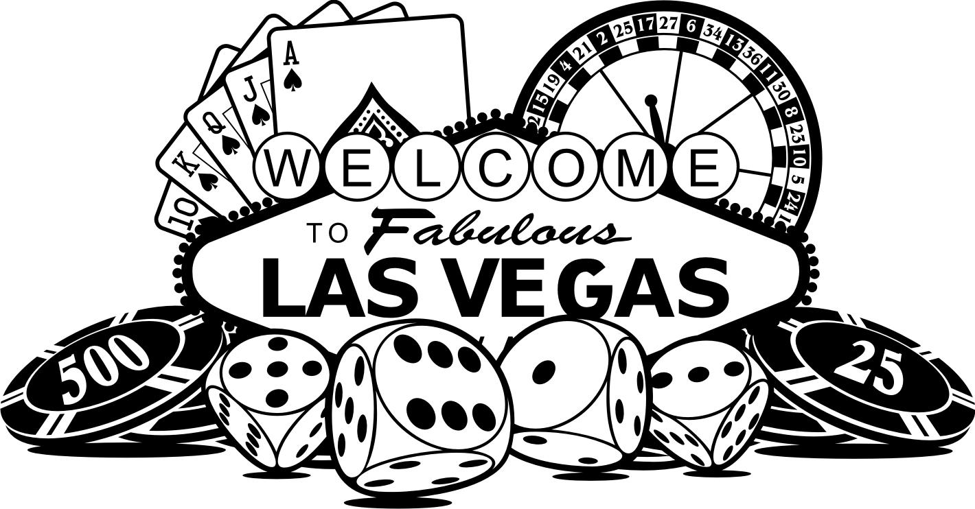 1420x742 Las Vegas Clipart Black And White