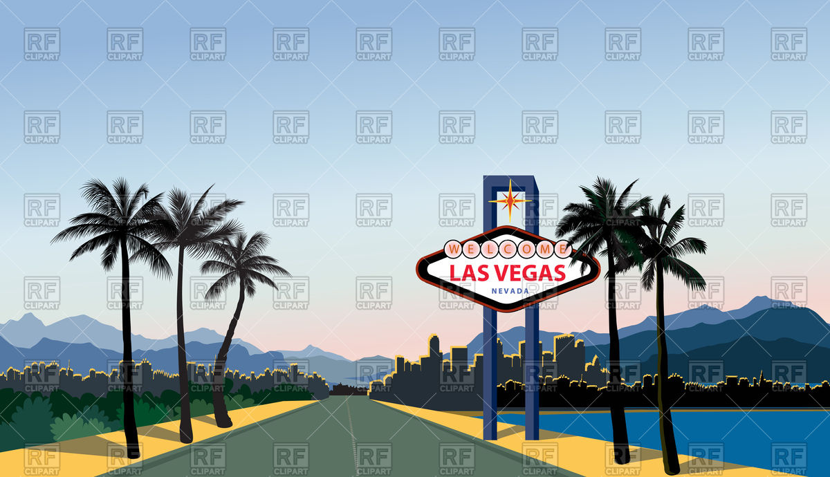1200x690 Las Vegas City Skyline. Travel Usa Background. Vector Image