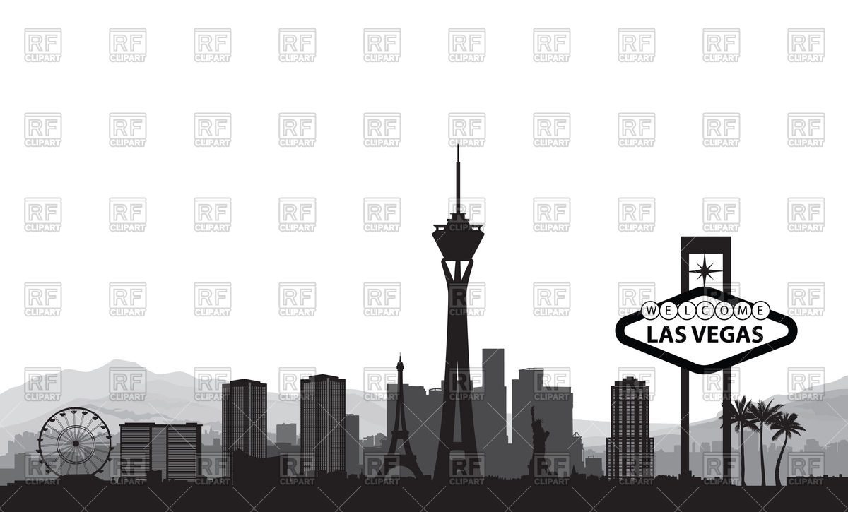 1200x725 Las Vegas Cityscape Vector Image Vector Artwork Of Design