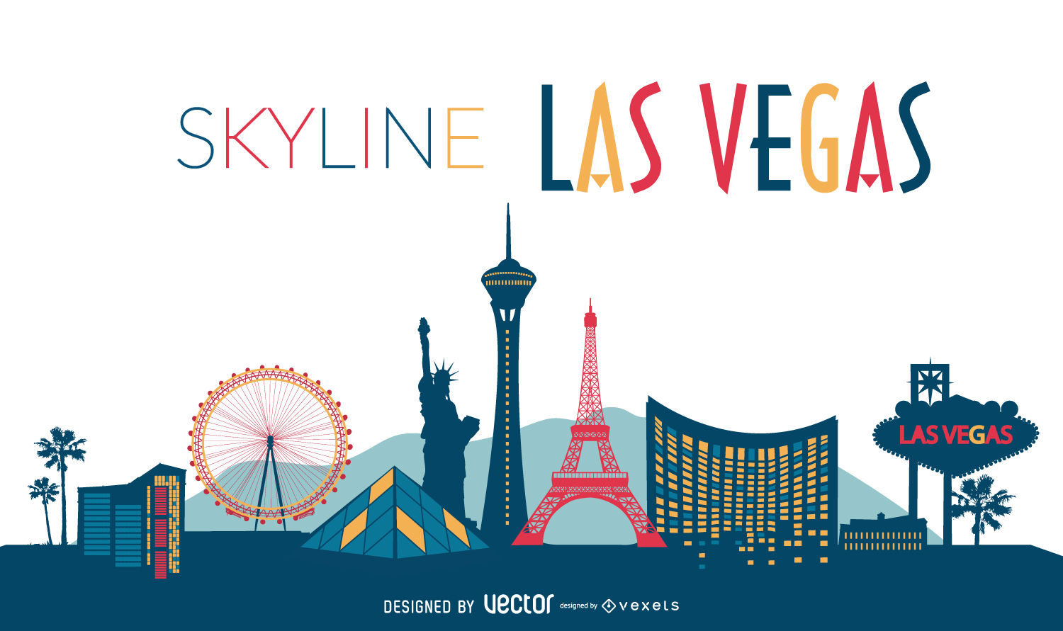 1500x891 Las Vegas Illustrated Skyline