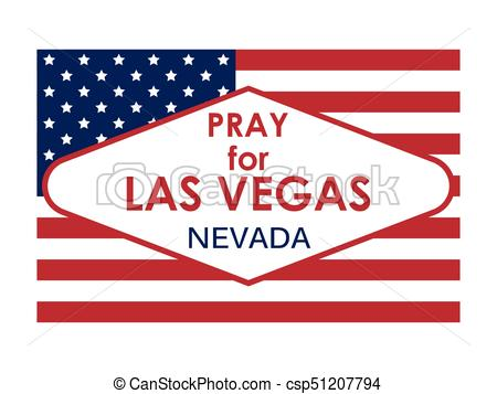 450x357 Pray For Las Vegas. Flag Usa. Vector Illustration.