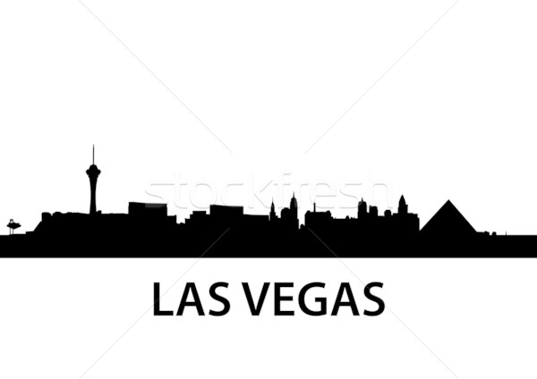 600x424 Skyline Las Vegas Vector Illustration Felix Pergande