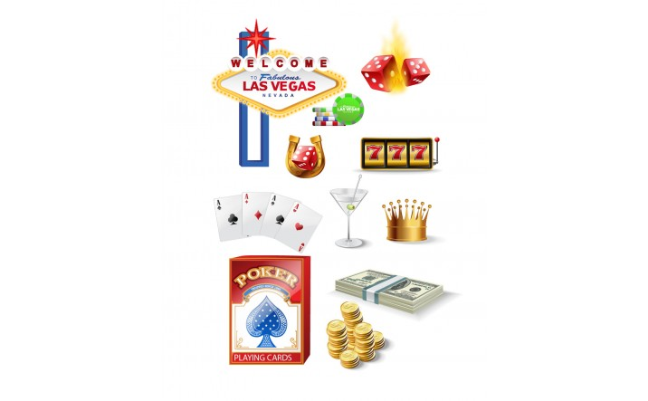 716x443 Casino Gambling Vector Pack Las Vegas Poker Vectors