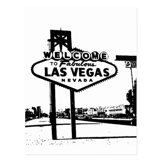 540x540 Welcome To Fabulous Las Vegas Bampw Vector Graphic Postcard
