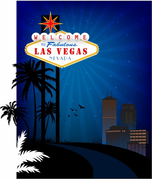 511x600 Welcome To Las Vegas! Free Vector In Adobe Illustrator Ai ( .ai