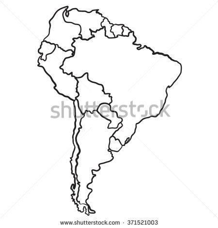 450x470 Latin America Vector Map Cartoon Map South America Stock Vector