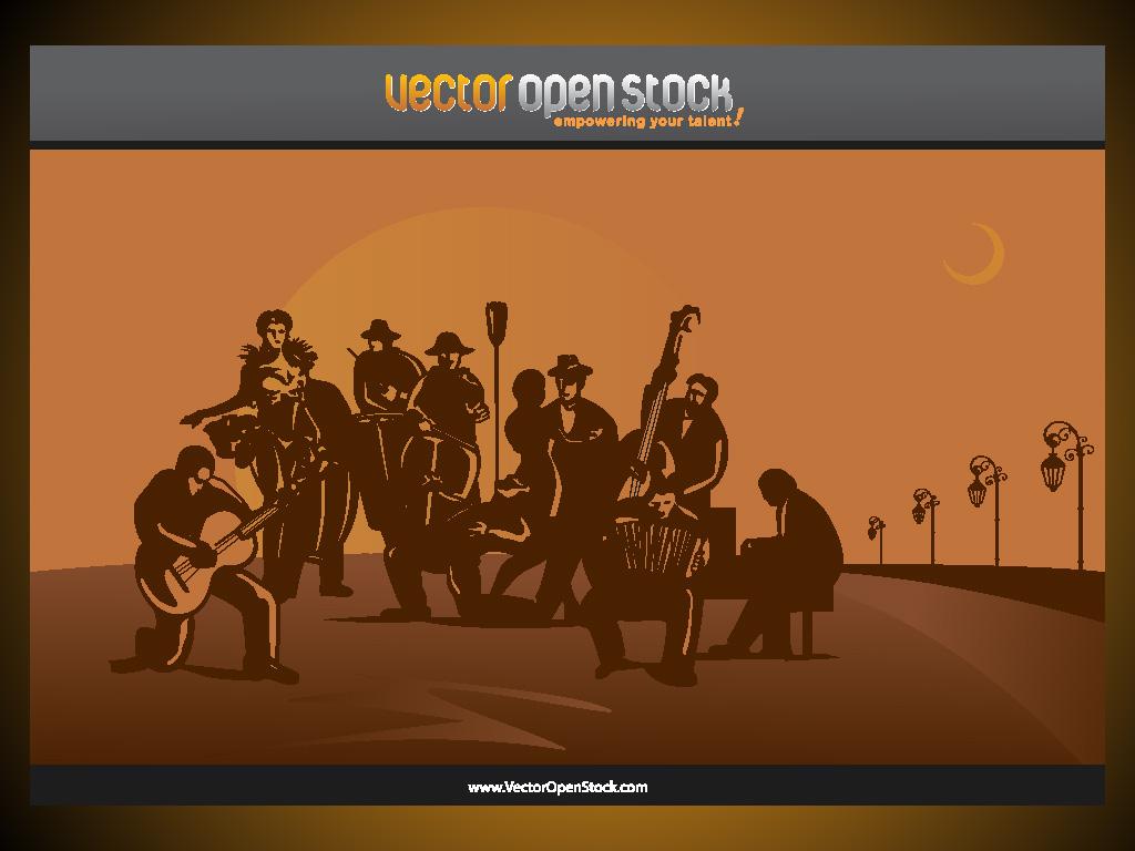 1024x768 Latin Band Scene