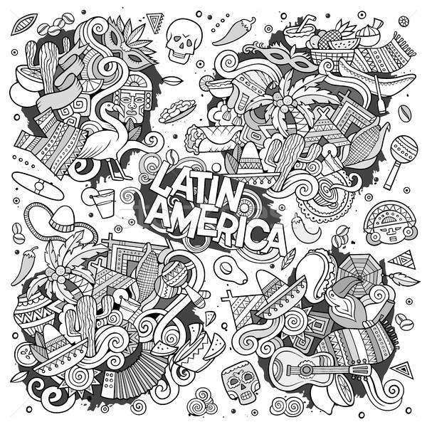 600x600 Sketchy Vector Hand Drawn Doodle Latin American Doodle Designs
