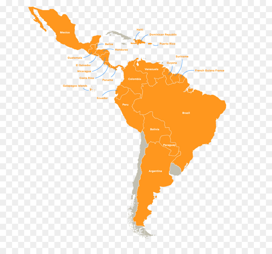 900x840 South America Latin America Vector Map