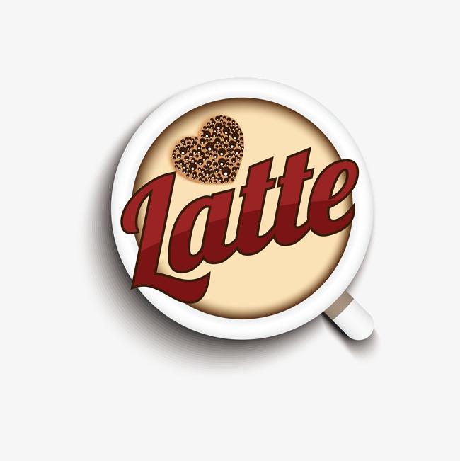 650x651 Latte Coffee Vector, Coffee Vector, Coffee Elements, Creative