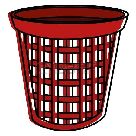450x450 Red Laundry Basket Laundry Basket Isolated Icon Vector
