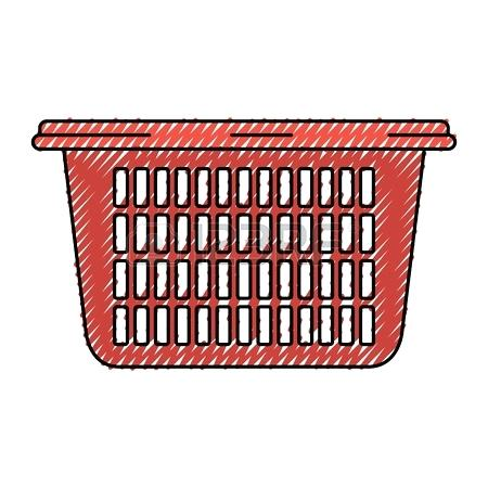 450x450 Tall Laundry Basket Colored Crayon Silhouette Of Laundry Basket