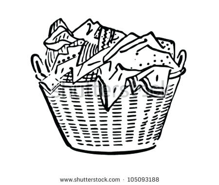 450x380 Laundry Basket Clipart Basket Of Laundry Stock Vector And Royalty