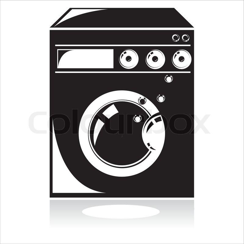 800x800 Black Washing Machine Icon Stock Vector Colourbox