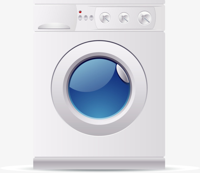 650x563 Hand Painted Vector Washing Machine, Vector, Hand Painted, Washing