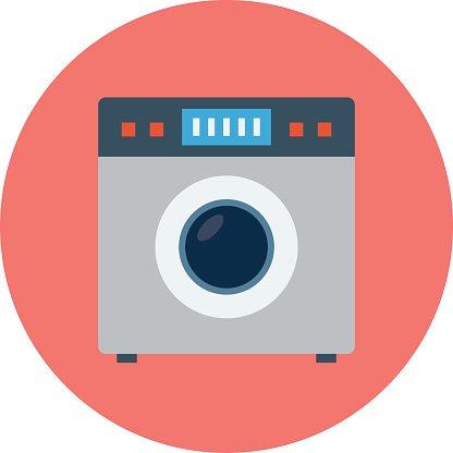 416x416 Laundry Machine Colored Vector Illustration Premium Clipart