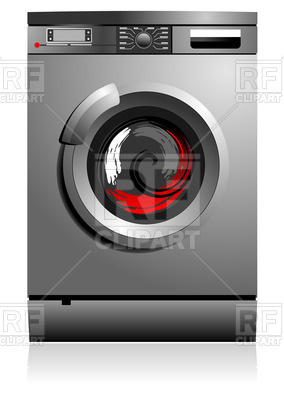 284x400 Metal Washing Machine Vector Image Vector Artwork Of Objects