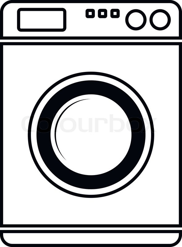 589x800 Pictures Of Washing Machine Vector