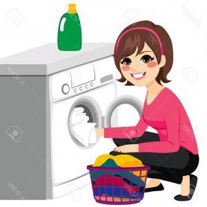 300x300 Stock Illustration Vector Laundry And Washing Machine Createmepink