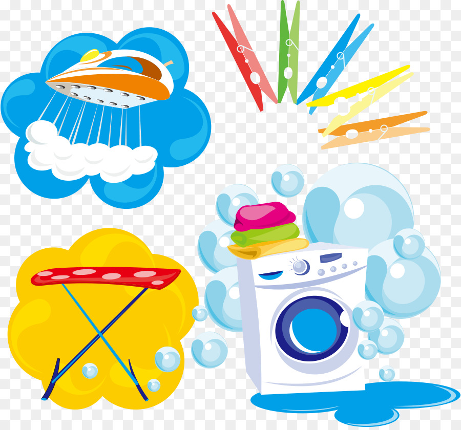 900x840 Download Washing Machine Laundry Clothes Iron Clothing Vector