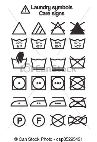 321x470 Laundry Symbols, Care Signs. Set Of Laundry Symbols, Care Signs
