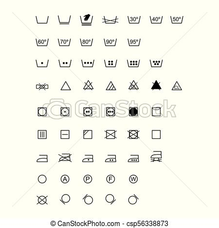 450x470 Laundry Symbols