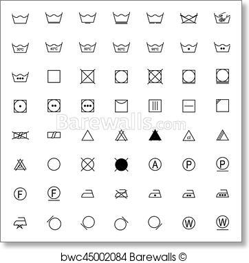362x382 Art Print Of Set Of Laundry Symbols, Vector Illustration