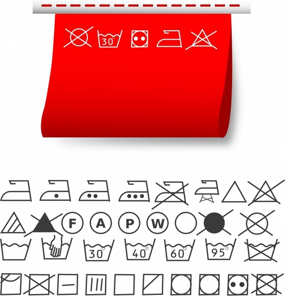 578x600 Washing Symbols Free Vector In Adobe Illustrator Ai ( .ai
