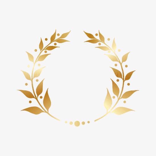 547x547 Golden Laurel Wreath Gold, Golden, Wreath, Gold Laurel Png And