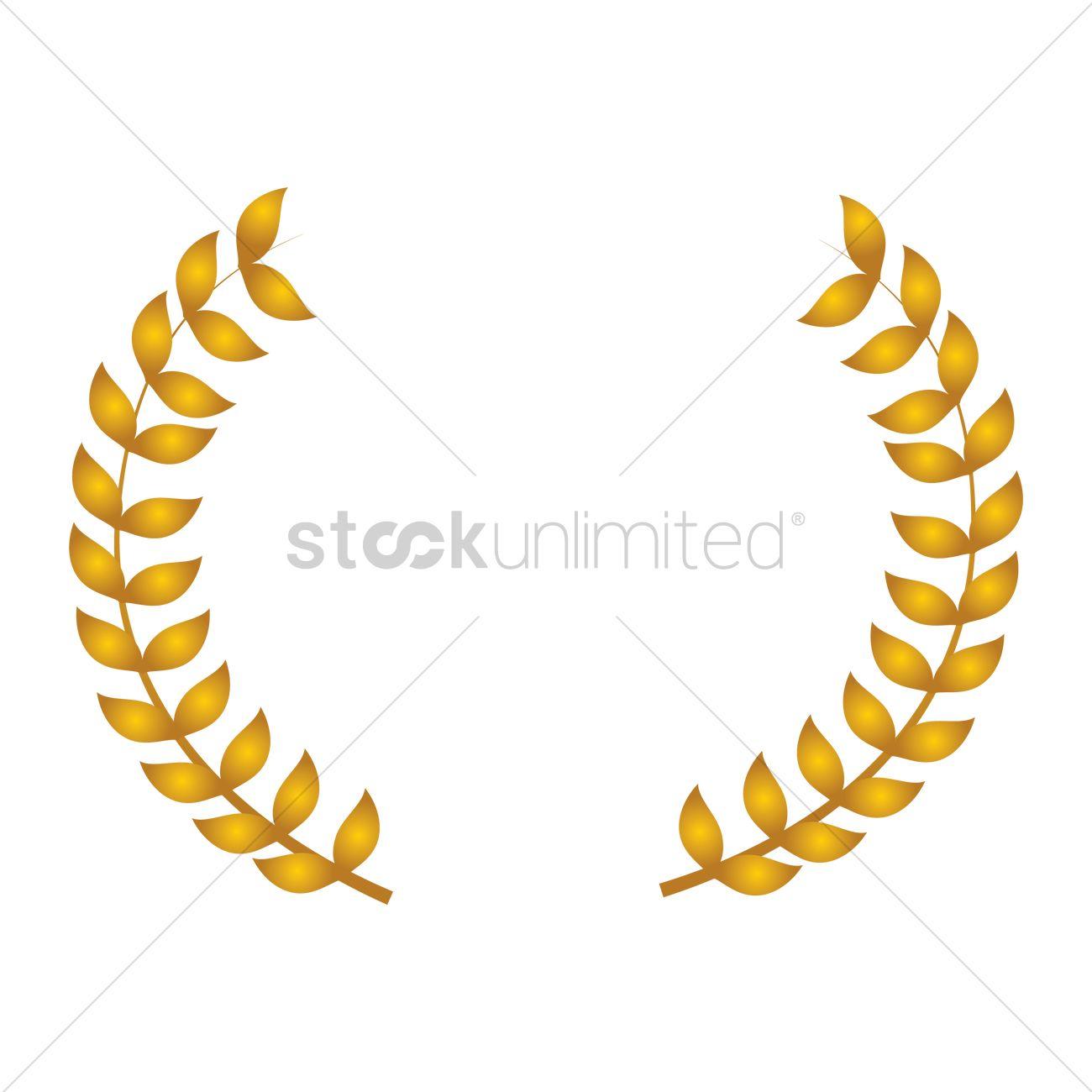 1300x1300 Golden Laurel Leaves Vector Image