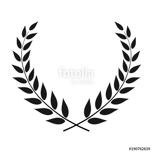500x500 Laurel Wreath Vector Isolated Stock Image And Royalty Free Vector
